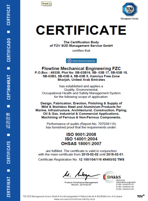 quality certification fme iso 90012008